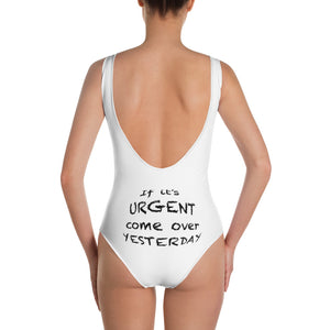 Come Over Yesterday One-Piece Swimsuit - Blindigo