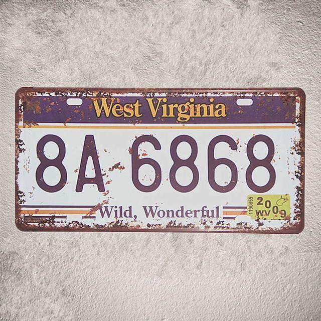 Retro car license plates - Blindigo