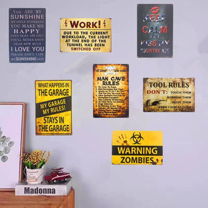 Shabby metal warning signs - Blindigo