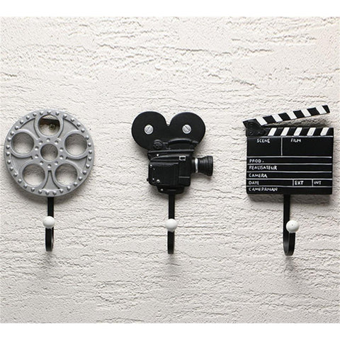Vintage movie wall hooks