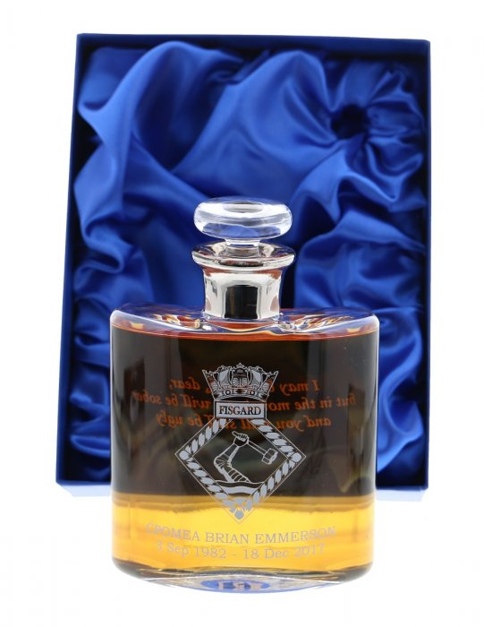 Glass Hipflask with Platinum Neck