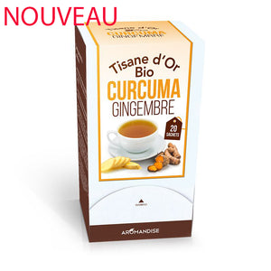 Tisane d'or curcuma gingembre