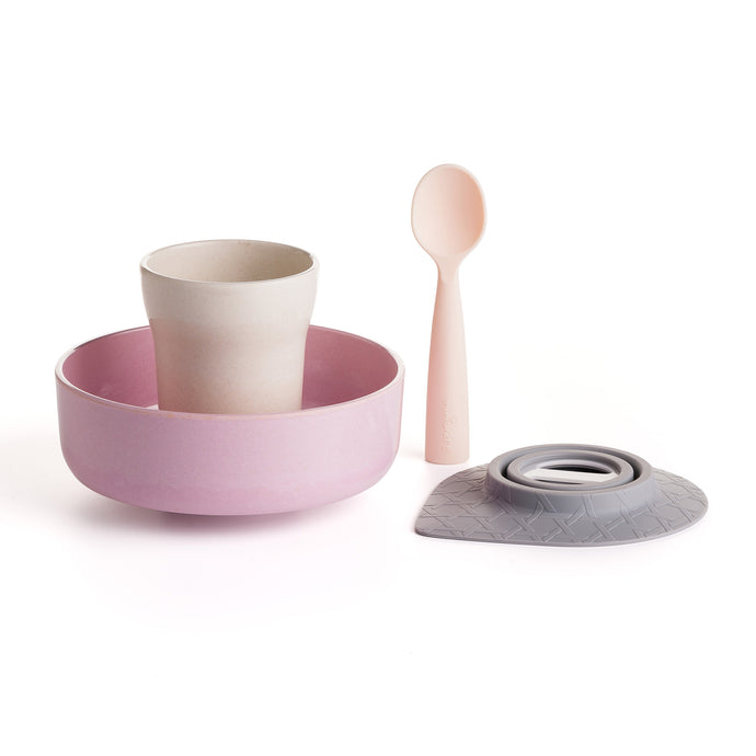 Snack Bowl Set + Cup + Silicone Spoon