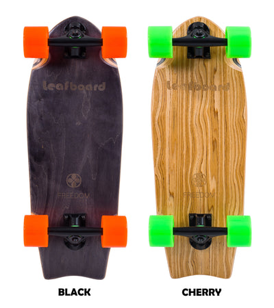 Leafboard freedom skateboard -Cherry wood/Leaf