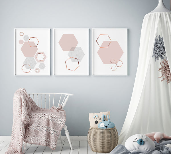 Blush Honeycomb Art Set