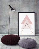 Blush Triangles Poster