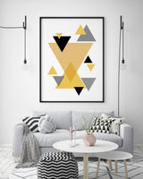 Mustard Triangles Cluster Print