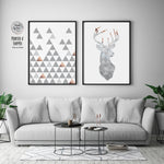 Scandinavian Poster Set of 2 in Grey