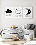 Monochromatic Nursery Art Set
