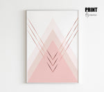 Blush Triangles Art Print