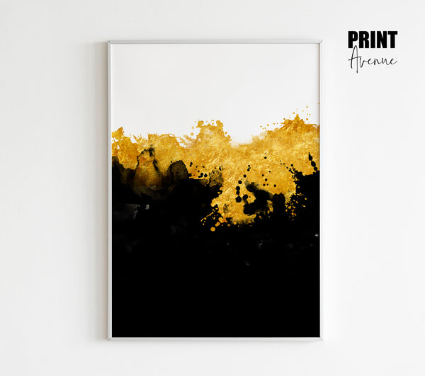 Black & Gold Abstract Art