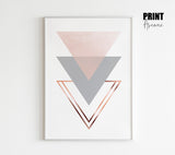 Triangles Stack in Blush and Grey