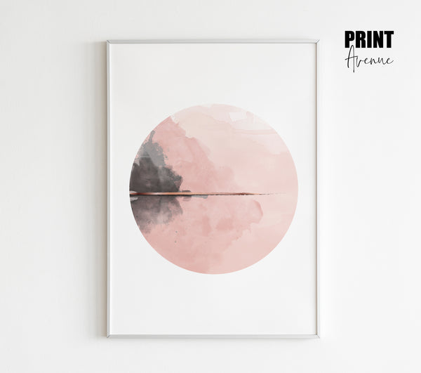 Blush Watercolour Circle Art