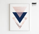 Overlapping Triangles Art Print