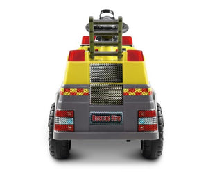 Fire Truck Electric Toy Car - Red & Yellow