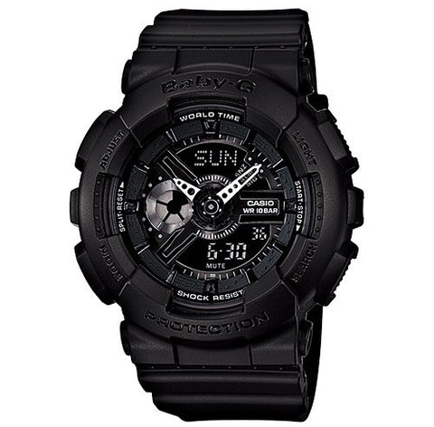 CASIO BABY-G ANALOGUE/DIGITAL FEMALE BLACK WATCH