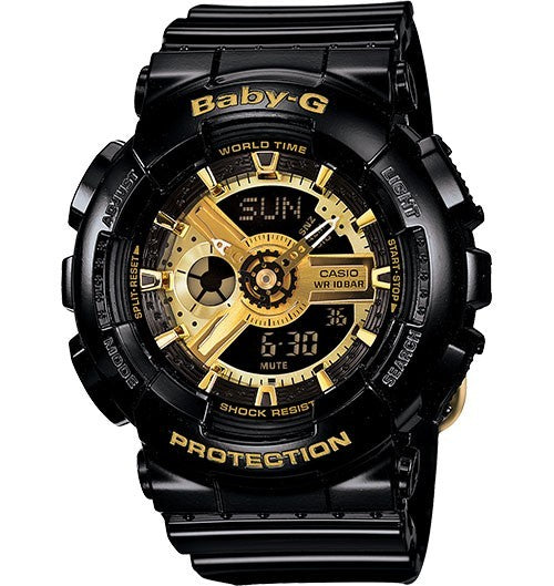 CASIO BABY-G ANALOGUEDIGITAL FEMALE BLACK WATCH BA-110