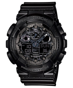 CASIO G-SHOCK ANALOGUE/DIGITAL MENS CAMOUFLAGE BLACK