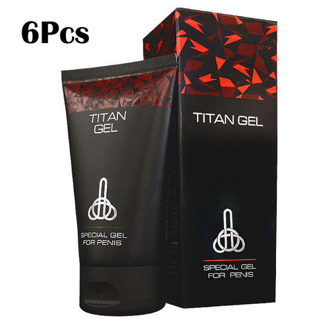 6 Pcs Imported Russian Titan Gel 50ML, Penis Thickening Growth, Sex Time Delay, Penis Enlargement Cream Adult Sex Products