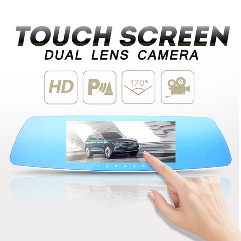 7 Inch 1080P Car DVR Dual Lens Touch Screen Rearview Mirror Video Recorder Dash Cam Parking Monitor G sensor Night Vision H71