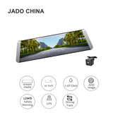 JADO D800 Steam Video Mirror Car Dvr GPS ADAS 10' IPS Touch Screen  HD 1296P/1080P Car Dvrs 140 Degree Registrar Dash cam