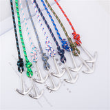 Multilayer Risers Silver Anchor Bracelet