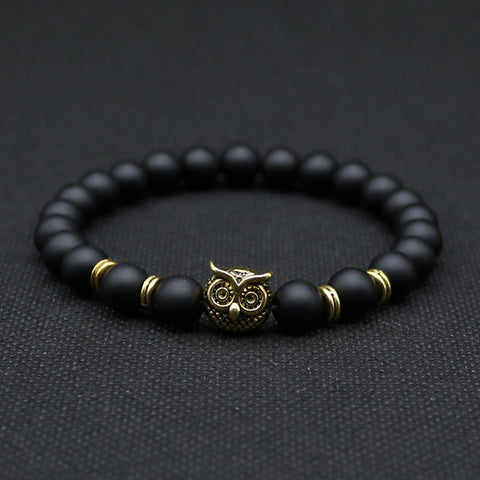 Silver Plated Animal Owl Head Bracelet