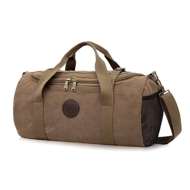 Large Capacity Canvas Gym Bag