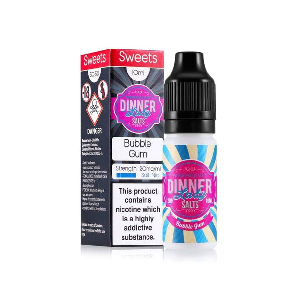 Dinner Lady Dinner Lady 10ml Salt Nicotine E-Liquid - Bubble Gum