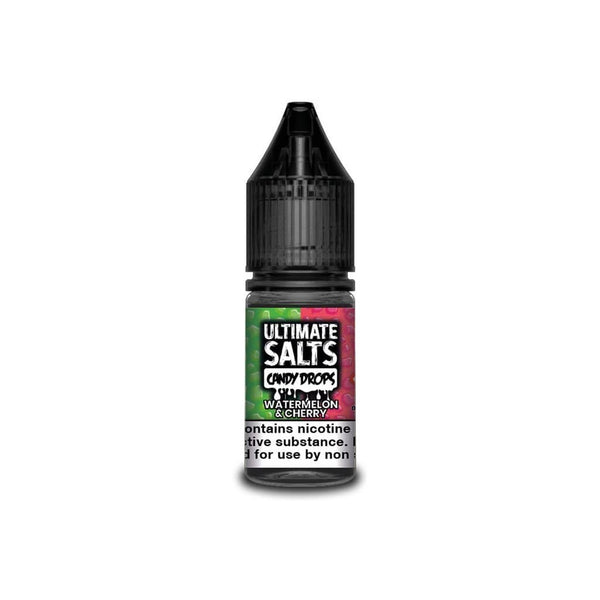 Ultimate Salts Watermelon & Cherry Candy Drops By Ultimate Salts - Nicotine Salt 10ml