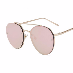 Luxury Oval Mirror Designer Sunglasses