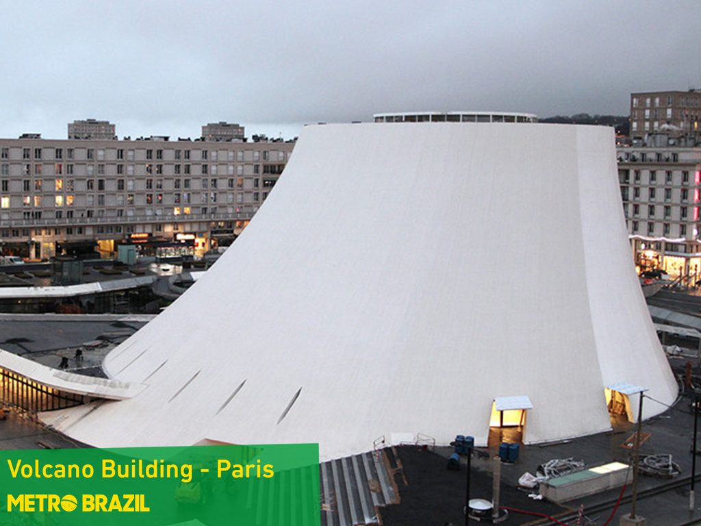 Volcano Building – Paris