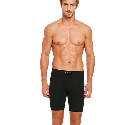Cueca Lupo Long Leg - Micromodal Sem Costura Boxer For Men by Lupo