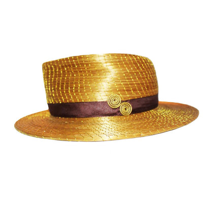 "Panama Design Hat Made Of Brazilian Golden Grass ""Capim Dourado"" - Metro Brazil"