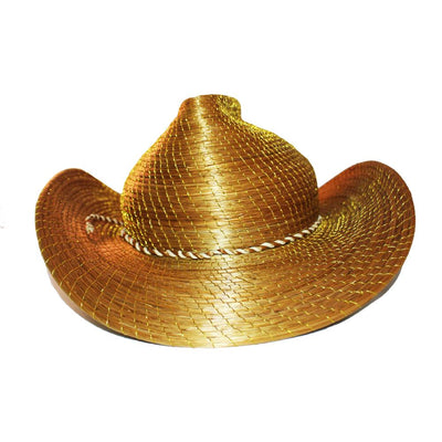 "Cowboy Design Hat Made Of Brazilian Golden Grass ""Capim Dourado"" - Metro Brazil"