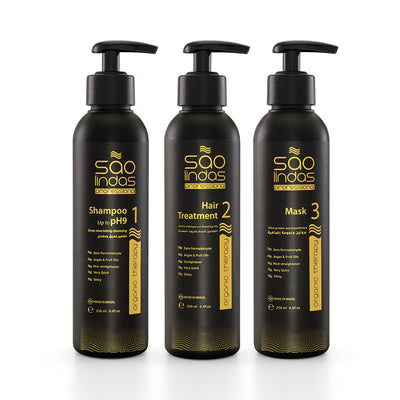 Protein Treatment Kit for Hair by Sao Lindas - 250ml