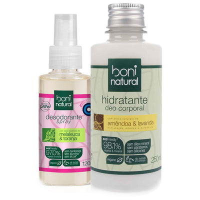 Boni Natural Almond & Lavender Moisturizer + Melaleuca and Grapefruit Deodorant Kit
