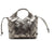 Arezzo Leather Metal Medium Tote Bag - Metallic Graphite