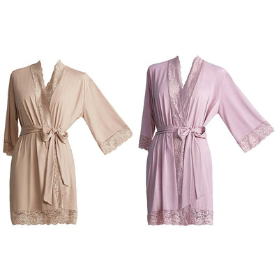 Toujours Passion Short Robe by Fruit De La Passion Luxury Lingerie - Metro Brazil