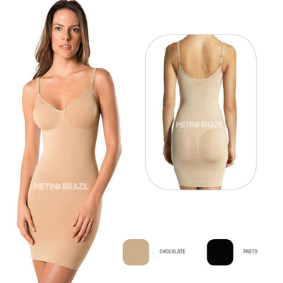 Seamless Body Slip Shapewear with Bra Full Brazilian Corset by Lupo - Metro Brazil