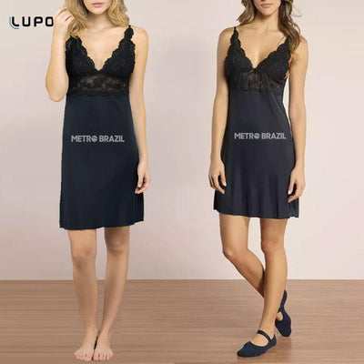 Lingerie - Nightdress With Lace For Women By Lupo
