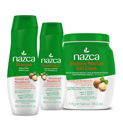 NAZCA ALMONDS AND MACADAMIA OIL Hair Care Kit