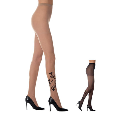 Loba Roses Design Pantyhose for Women by LUPO - Metro Brazil