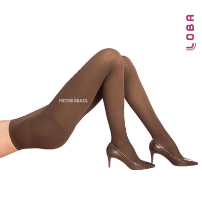 Pantyhose - Women Micro Striped Loba PANTYHOSE By LUPO