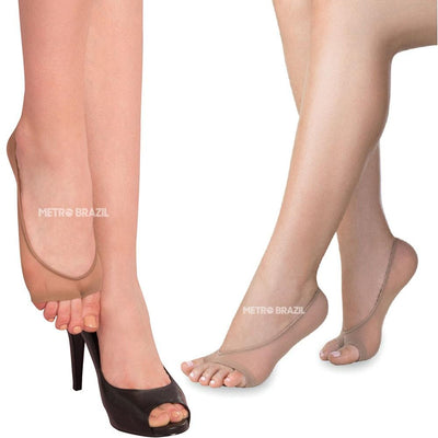 Women Fingers Free Short Foot Socks by Lupo - Metro Brazil