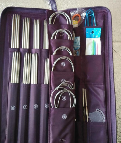 Set of stainless steel Knitting Needle Crochet Hooks Circular Needle