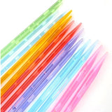 Multicolor Plastic Crystal Knitting Needles 14pcs