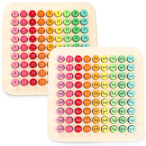 Montessori Math Toys Wood 9*9 Multiplication Board Colorful Arithmetic Toy Early Learning Toys for Children Preschool Training