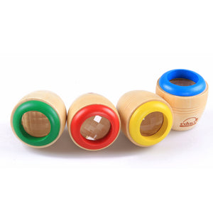 Free Shipping Kids Toys Magic Kaleidoscope Wooden Baby Montessori Early Educaional Puzzle Birthday Gifts