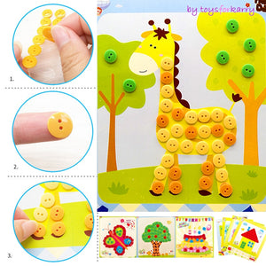 DIY Button Stickers Drawing Toys Funny Game